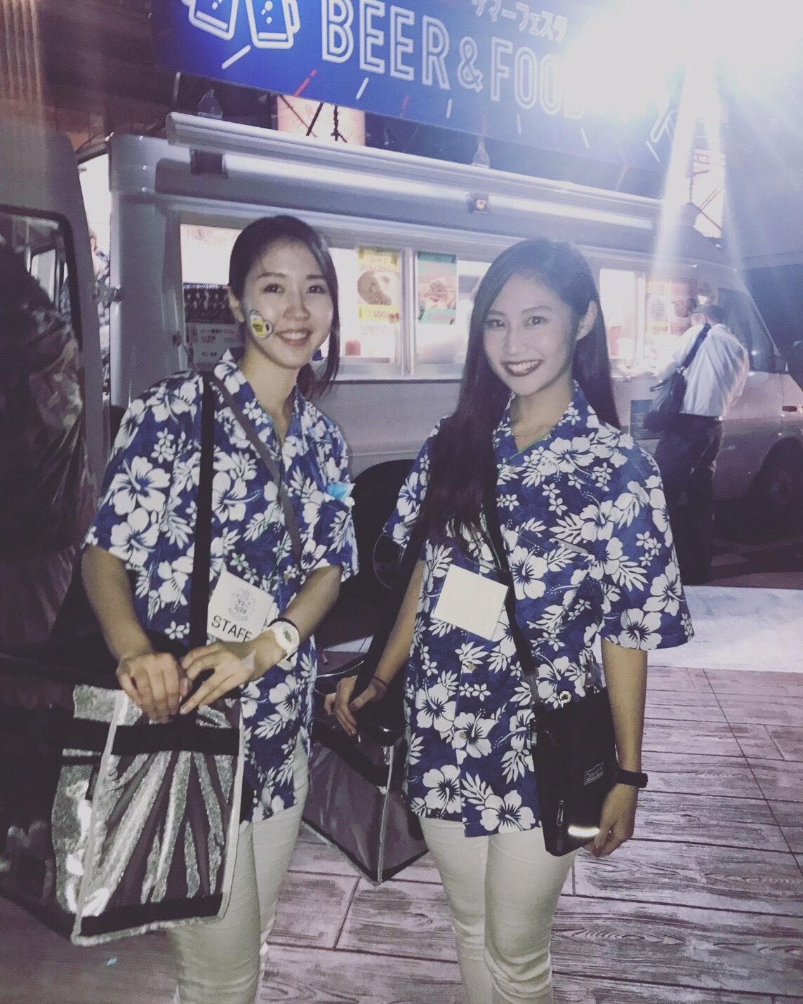 サッカー日本代表戦 ビール売り @ららぽーと豊洲