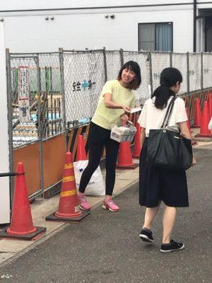 スポーツジムオープンイベント@街頭サンプリング